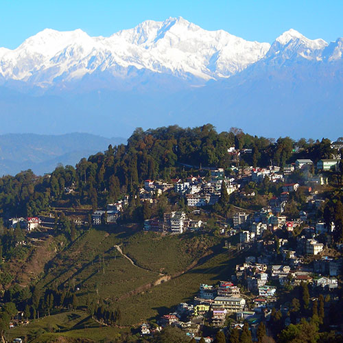 Kanchanjhangha at the backdrop of Darjeeling Town