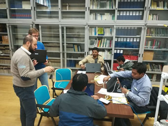 Discussions and training sessions at CNR in Italy during the second visit of GSI