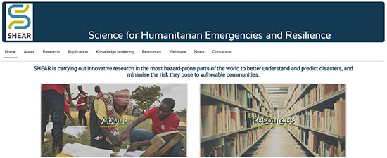 Science for Humanitarian Emergencies and Resilience homepage